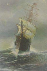Duitsche Bark Coquette 1870 Postal antigua barcos N.117