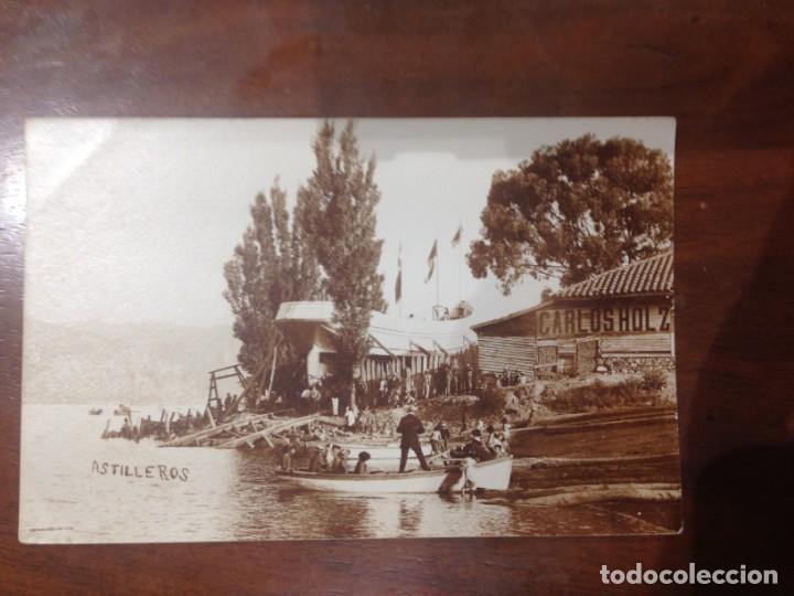 FOTO POSTAL ASTILLEROS CARLOS HOLZ - ENTRE LOS AÑOS: 1910_1920'S (Postales - Postales Temáticas - Barcos)