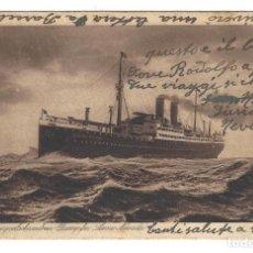 Postales: POSTAL- DOPPELSCHRAUBEN DAMPFER SIERRA NEVADA. BARCO SIERRA NEVADA. CIRCULADA- 1923. Lote 157262702