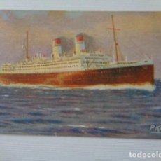 Postales: GIULIO CESARE. BUQUE ITALIANO. MEDITERRANEO SURAMERICA EXPRESS. VALENCIA EXPRESS. Lote 157726934