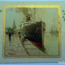 Postales: 3 ANTIQUE POSTCARDS POSTALES ANTIGUAS ESTAMPADO DORADO DE RED STAR LINE - 1920. Lote 158698982