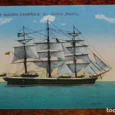 Postales: POSTAL DE MARINA DE GUERRA ESPAÑOLA, N. 10, CORBETA NAUTILUS, SERIE STANDARD, NO CIRCULADA.. Lote 158939210