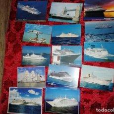 Postales: 14 POSTALES CRUCEROS Y BARCOS DEL MUNDO . Lote 159413990