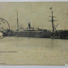 Postales: POSTAL VAPOR P. DE SATRUSTEGUI, COMPAÑIA TRASATLANTICA, AÑO 1906, SELLO HABANA CUBA. Lote 159753838