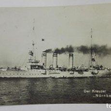 Postales: POSTAL DER KREUZER - NURNBERG, AÑO 1906. Lote 159755794