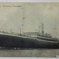 Postales: . POSTAL SOCIETA ITALIA - PIROSCAFO, TAORMINA, AÑOS 20. Lote 159871298