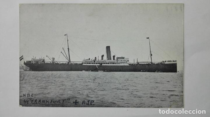 . POSTAL N D L. S/S, FRANKFURT, R.I.P., AÑOS 20 (Postales - Postales Temáticas - Barcos)