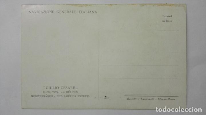 Postales: . POSTAL TRANSATLANTICO GIULIO CESARE, NAVIGAZIONE GANERALE ITALIANA, SUD AMERICA EXPRESS - Foto 2 - 159872326