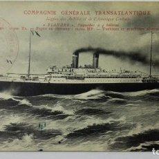 Postales: . POSTAL COMPAÑIA GENERAL TRANSATLATICA, LINEA DE ANTILLAS, MEJICO, Y AMERICA CENTRAL, FLANDRE. Lote 159873190