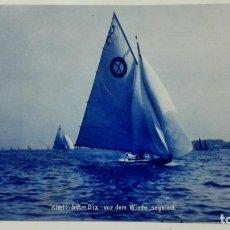 Postales: POSTAL FELIZ NAVEGACION CON LAS VELAS AL VIENTO, AÑO 1906. Lote 159886470