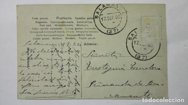 Postales: POSTAL FELIZ NAVEGACION CON LAS VELAS AL VIENTO, AÑO 1906 - Foto 2 - 159886470