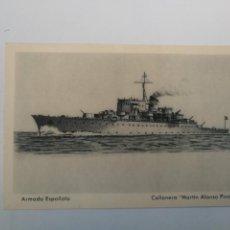 Postkarten - ANTIGUA POSTAL DE LA ARMADA ESPAÑOLA - CAÑONERO MARTIN ALONSO PINZON - PROPAGANDA MARITIMA - EDICION - 159896582