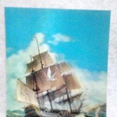 Postales: POSTAL HOLOGRAFICA * GALEON SIGLO XVII* ... ESCRITA FIRMA.. Lote 160191098