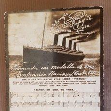 Postales: POSTAL TITANIC. POSTAL FOTOGRÁFICA PREMIADA CON MEDALLA DE ORO EXPOSICIÓN NACIONAL. CUBA 1911. Lote 161540870