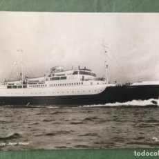 Postales: S14 FAERGEN 'PETER WESSEL'.- ED MITTET & CO - OSLO - CIRCULADA 1955. Lote 161932074
