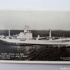 Postales: M.S. PACIFIC OCEAN, BUILT 1965. Lote 162003014