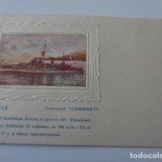 Postales: ACORAZADO FRANCES COURBET. 1911. POSTAL AÑOS 20 APROX. INTERESANTE.. Lote 163788742