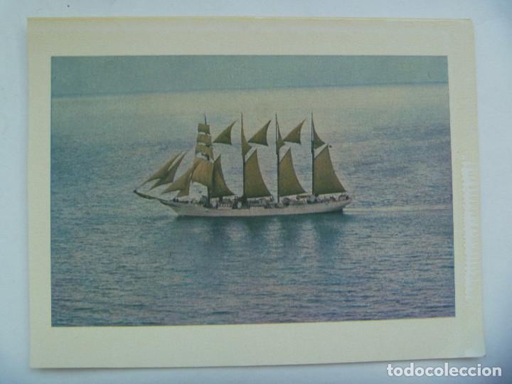 POSTAL DEL BUQUE ESCUELA JUAN SEBASTIAN ELCANO , AÑOS 60 ........... 13 X 17 CM (Postales - Postales Temáticas - Barcos)