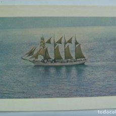 Postales: POSTAL DEL BUQUE ESCUELA JUAN SEBASTIAN ELCANO , AÑOS 60 ........... 13 X 17 CM. Lote 164610130