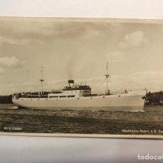 Postales: SUECIA. POSTAL BARCO. M/S FIDRA. STOCKHOLMS REDERI A.B. SVEA (H.1950?) ESCRITA..... Lote 164645508