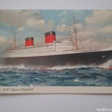 Postales: POSTAL BARCO CUNARD R.M.P. QUEEN ELIZABETH 1959.. Lote 165377729