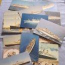 Postales: LOTE DE 20 POSTALES DE TRASATLÁNTICOS . Lote 167773176