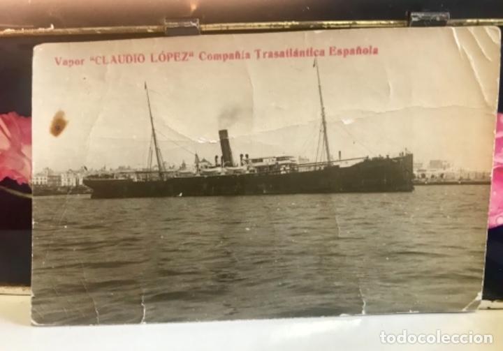 POSTA BARCO VAPOR CLAUDIO LOPEZ COMPAÑIA TRASATLANTICA ESPAÑOLA (Postales - Postales Temáticas - Barcos)