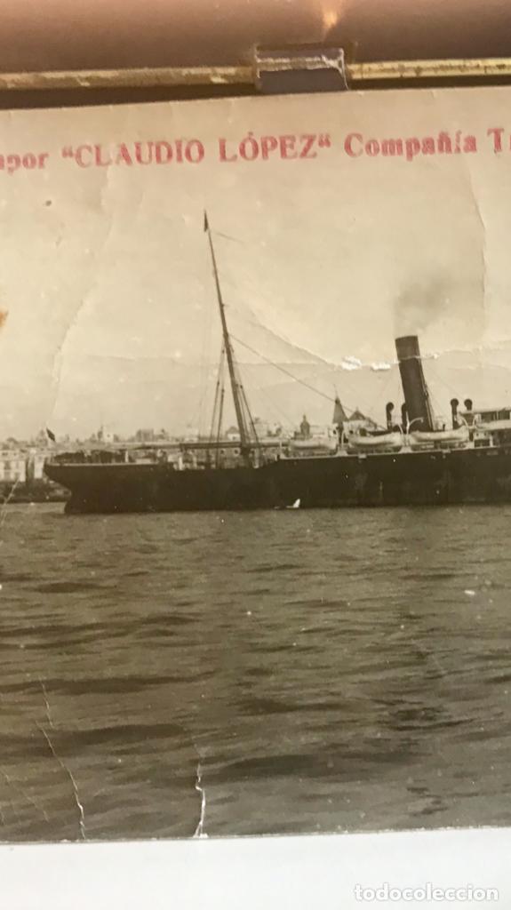 Postales: posta barco vapor claudio lopez compañia trasatlantica española - Foto 2 - 168405520