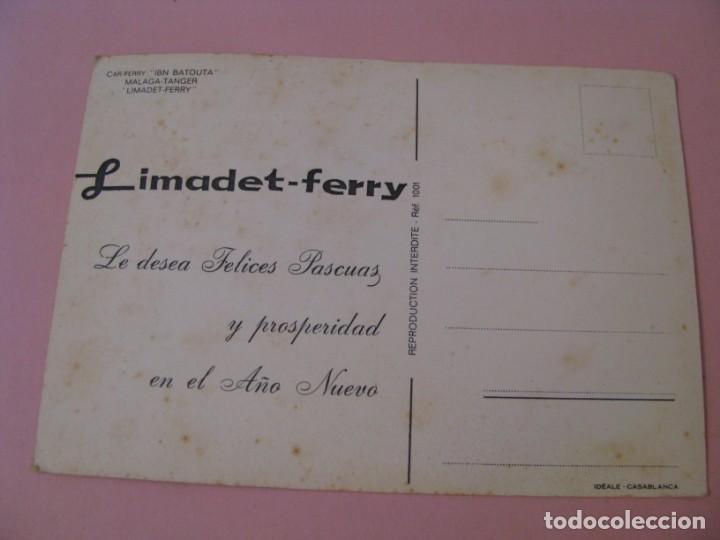 Postales: POSTAL DE BARCO CAR-FERRY IBN BATOUTA. MALAGA - TANGER. LIMADET - FERRY. - Foto 2 - 169132416
