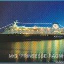 Postales: M/S PRINSESSE RAGNHILD (OSLO/KIEL) - COLOR LINE 8181 - ESCRITA. Lote 169195732