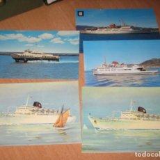 Postales: 5 POSTALES DE BARCOS. Lote 169199336