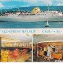 Postales: CRUCERO KROMPRINS HARALD, OSLO-KIEL-OSLO - FOTO JAC BRUN 4111/7 - PRINTED IN NORWAY MITTET - S/C. Lote 169223185