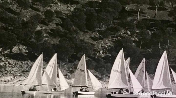 Postales: escuela de vela del club nautico de madrid postal fotografica embalse de san juan regata - Foto 2 - 169244428