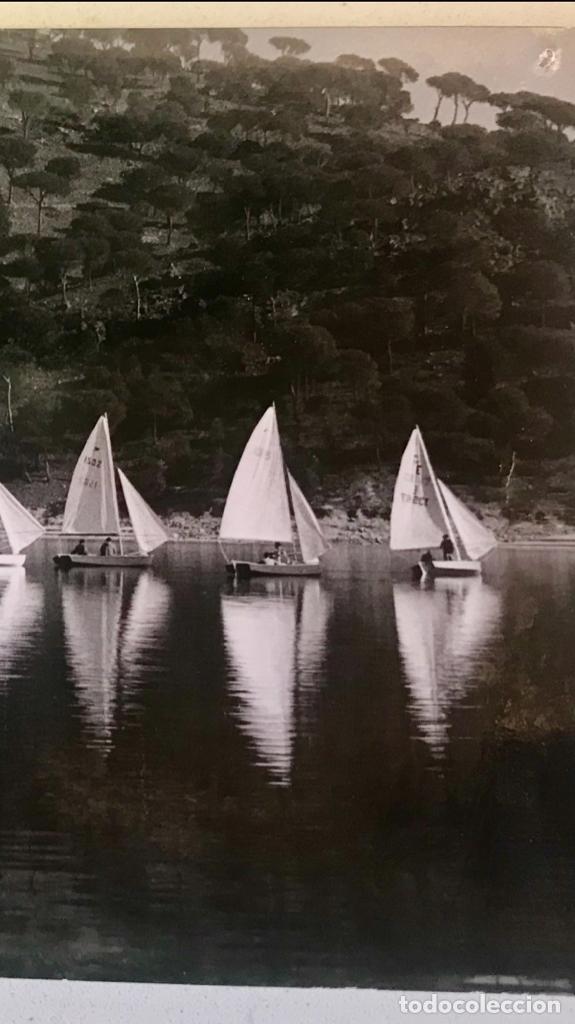 Postales: escuela de vela del club nautico de madrid postal fotografica embalse de san juan regata - Foto 3 - 169244428