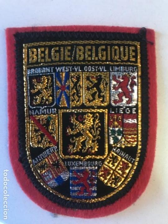 PARCHE ESCUDOS DE ARMAS LEON BELGA BELGIQUE BELGIE BELGIUM BELGIAN LION CREST COAT OF ARMS PATCH (Postales - Postales Temáticas - Barcos)