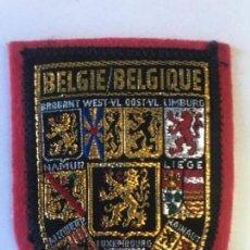 Postales: PARCHE ESCUDOS DE ARMAS LEON BELGA BELGIQUE BELGIE BELGIUM BELGIAN LION CREST COAT OF ARMS PATCH . Lote 169246384