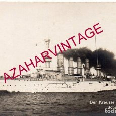 Postales: ANTIGUA POSTAL FOTOGRAFICA BARCO, DER KREUZER SCHARNHORST. Lote 169437372