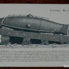 Postales: ICTINEO MONTURIOL, PROPAGANDA MARITIMA PATRIOTICA, SIN CIRCULAR, RARA. Lote 169454604