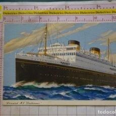 Postales: POSTAL DE BARCOS NAVIERAS. CUNARD MV BRTINANNIC. 1660. Lote 169767736
