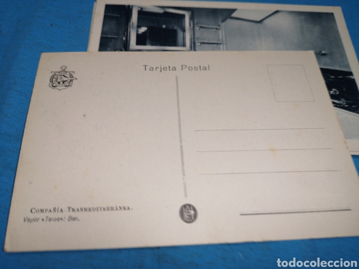 Postales: 12 fotografías-tarjeta postal, 1931, barco motónave Barcelona, y barco Vapor teide, comp. Transmedit - Foto 5 - 170305896