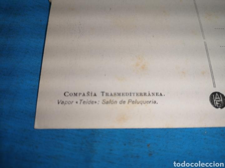 Postales: 12 fotografías-tarjeta postal, 1931, barco motónave Barcelona, y barco Vapor teide, comp. Transmedit - Foto 10 - 170305896