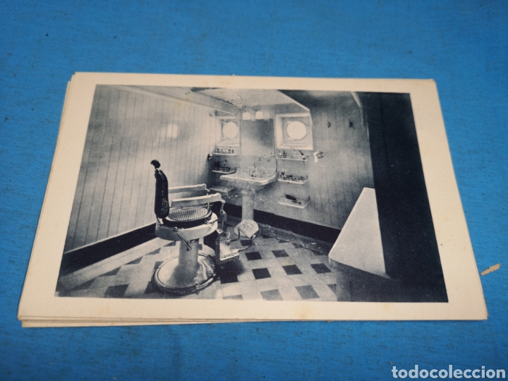 Postales: 12 fotografías-tarjeta postal, 1931, barco motónave Barcelona, y barco Vapor teide, comp. Transmedit - Foto 9 - 170305896