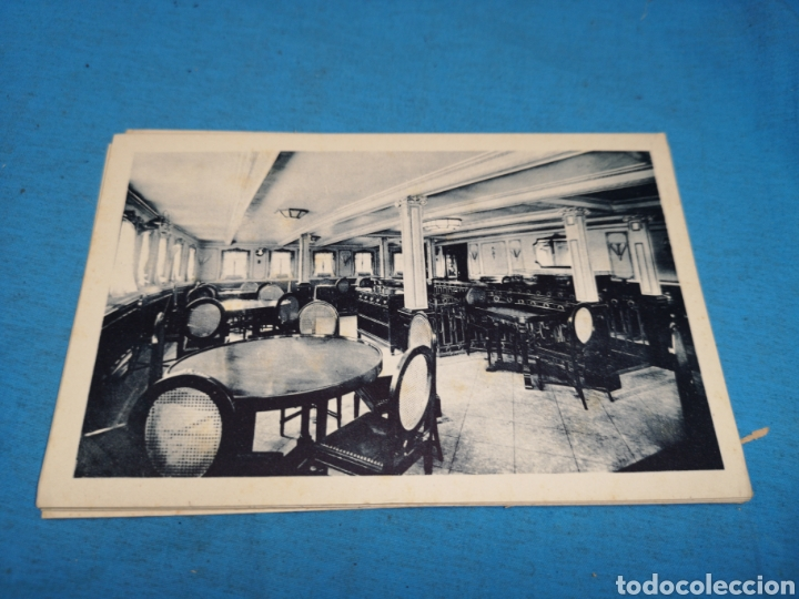 Postales: 12 fotografías-tarjeta postal, 1931, barco motónave Barcelona, y barco Vapor teide, comp. Transmedit - Foto 11 - 170305896
