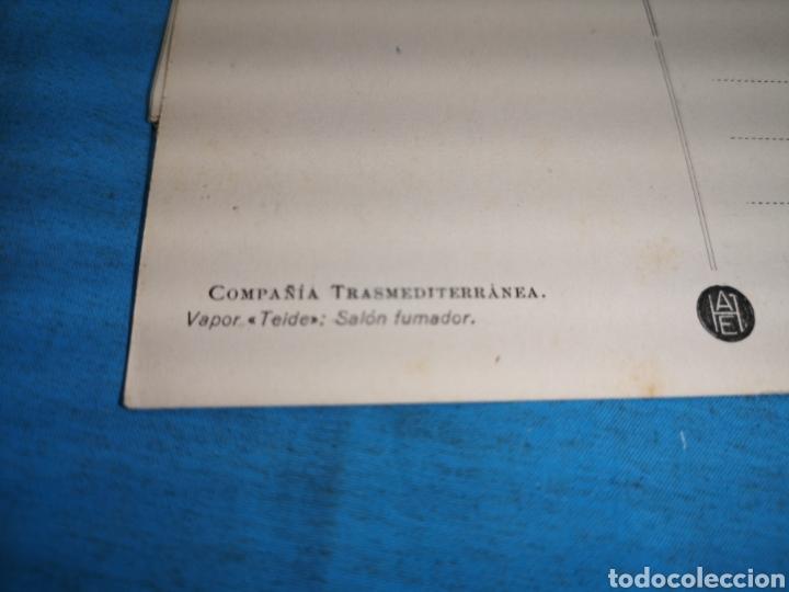 Postales: 12 fotografías-tarjeta postal, 1931, barco motónave Barcelona, y barco Vapor teide, comp. Transmedit - Foto 12 - 170305896
