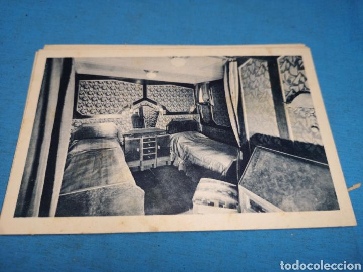 Postales: 12 fotografías-tarjeta postal, 1931, barco motónave Barcelona, y barco Vapor teide, comp. Transmedit - Foto 13 - 170305896