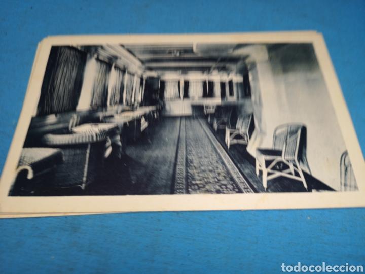 Postales: 12 fotografías-tarjeta postal, 1931, barco motónave Barcelona, y barco Vapor teide, comp. Transmedit - Foto 15 - 170305896