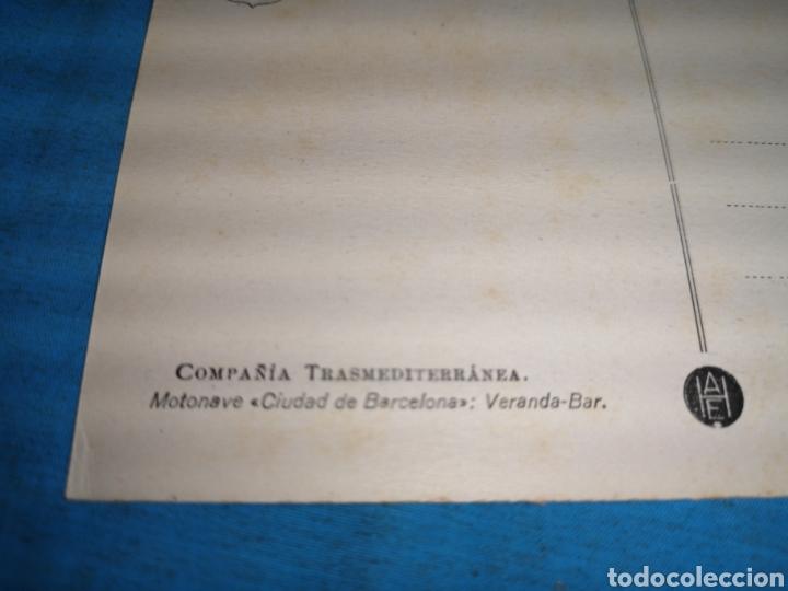 Postales: 12 fotografías-tarjeta postal, 1931, barco motónave Barcelona, y barco Vapor teide, comp. Transmedit - Foto 16 - 170305896