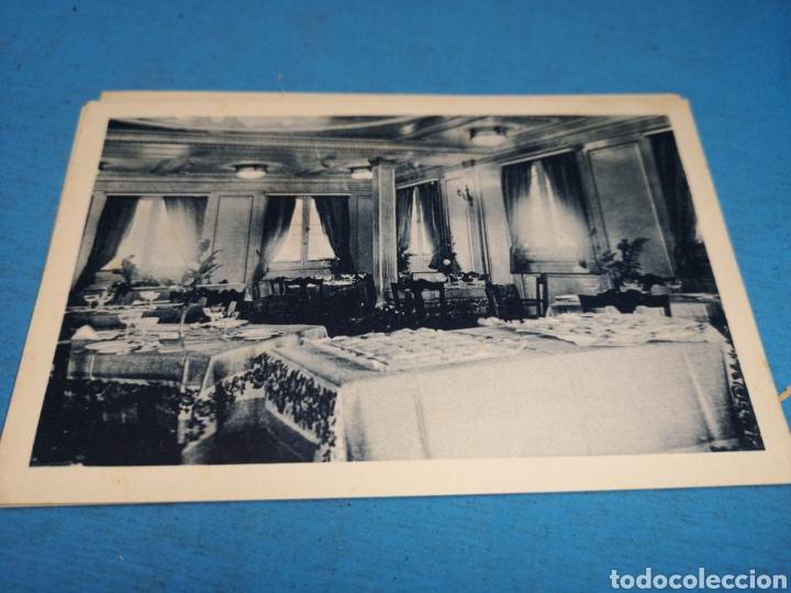 Postales: 12 fotografías-tarjeta postal, 1931, barco motónave Barcelona, y barco Vapor teide, comp. Transmedit - Foto 17 - 170305896