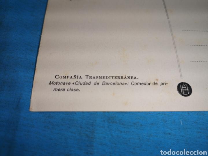 Postales: 12 fotografías-tarjeta postal, 1931, barco motónave Barcelona, y barco Vapor teide, comp. Transmedit - Foto 18 - 170305896