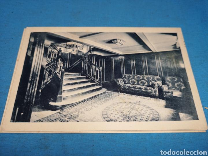 Postales: 12 fotografías-tarjeta postal, 1931, barco motónave Barcelona, y barco Vapor teide, comp. Transmedit - Foto 19 - 170305896
